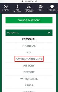 ml orange withdrawal payment account